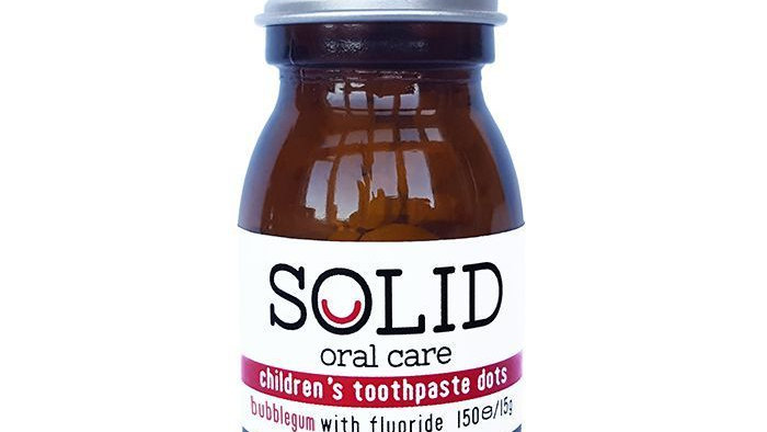 Solid Oral - Children's Toothpaste Tablets (Bubblegum)