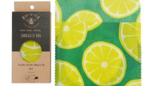 LilyBee Wraps - Sandwich Bag Large Pocket Full of Limes