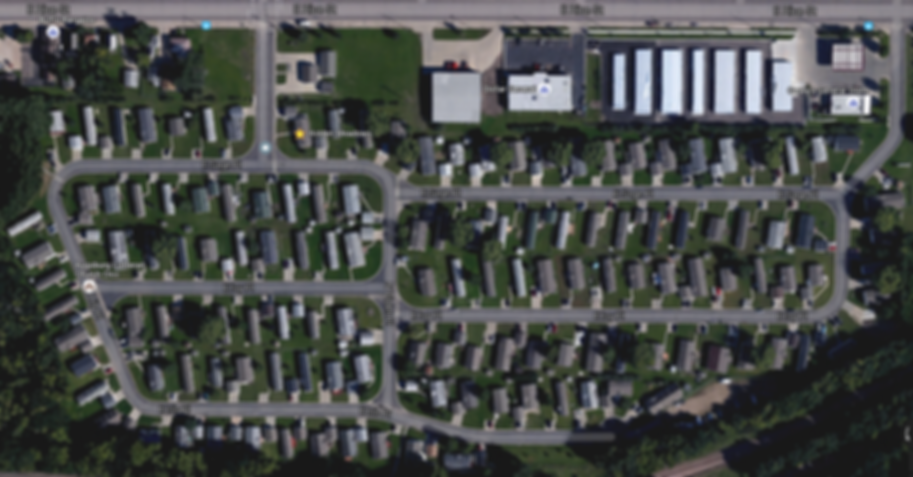 Sioux Falls Overhead View of Hidden Meadows Mobile Home Park