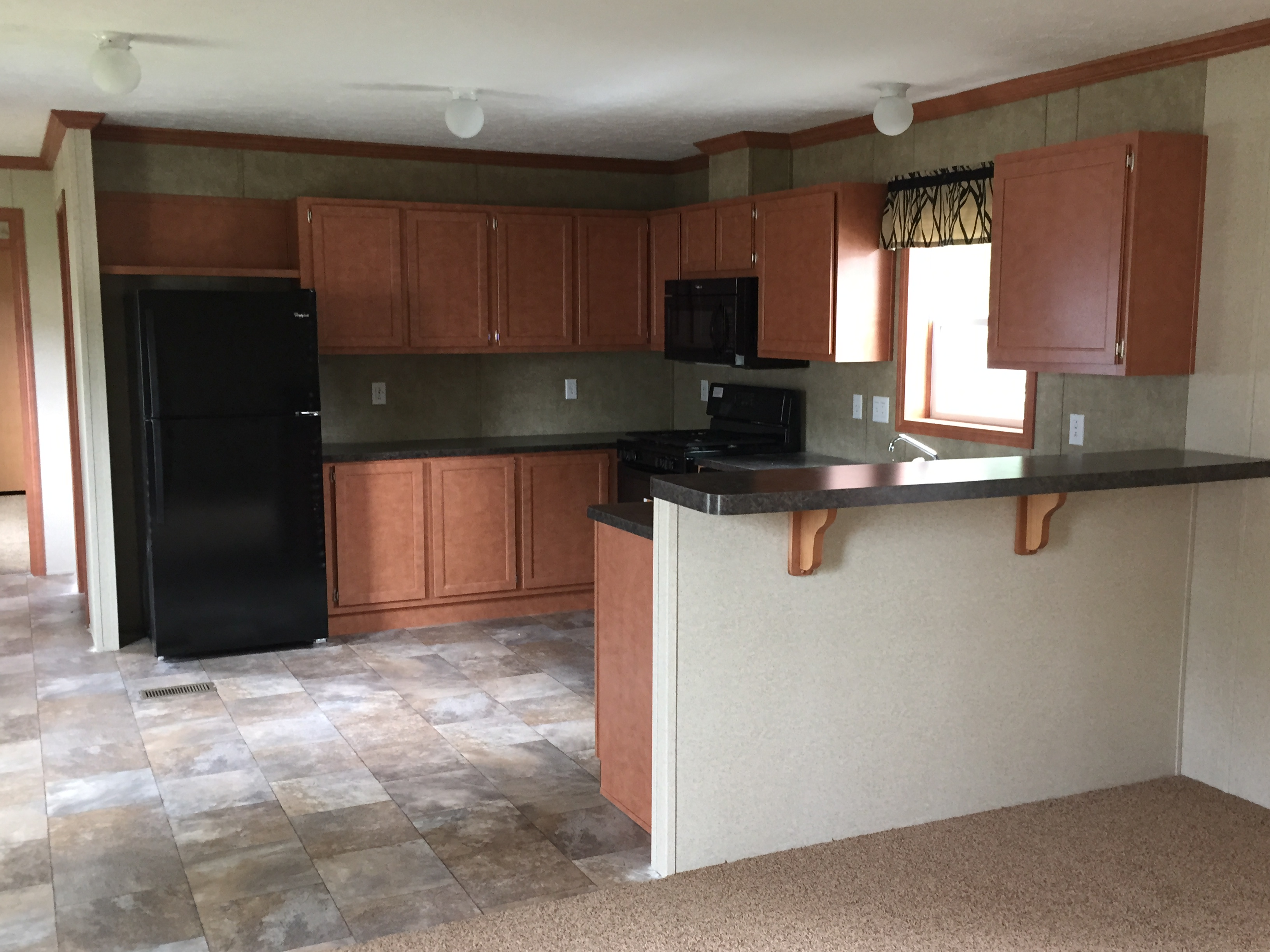 singlewide mobile home kitchen