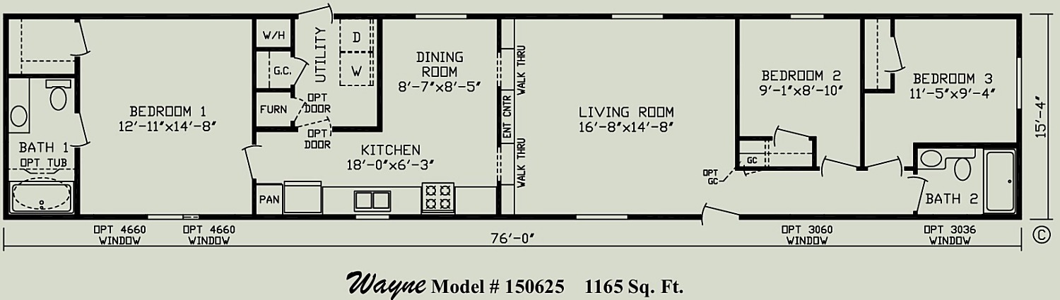 Wayne singlewide mobile home