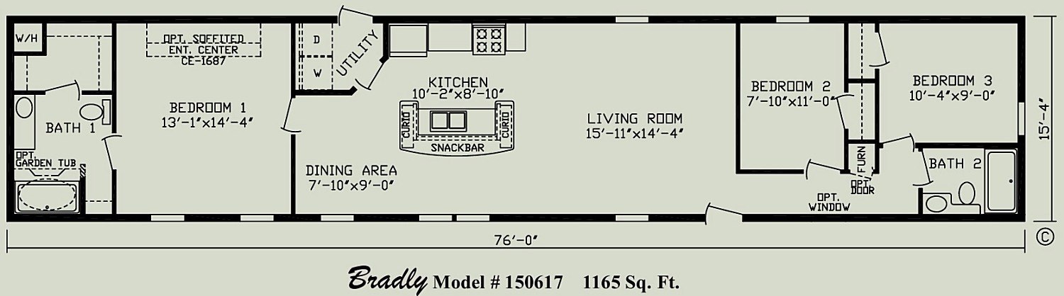 Bradley Singlewide mobile home