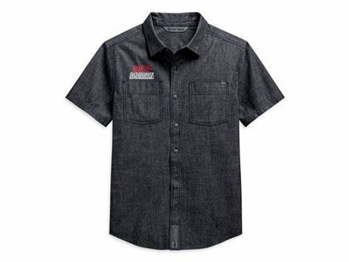 Chemise à manches courtes Chambray