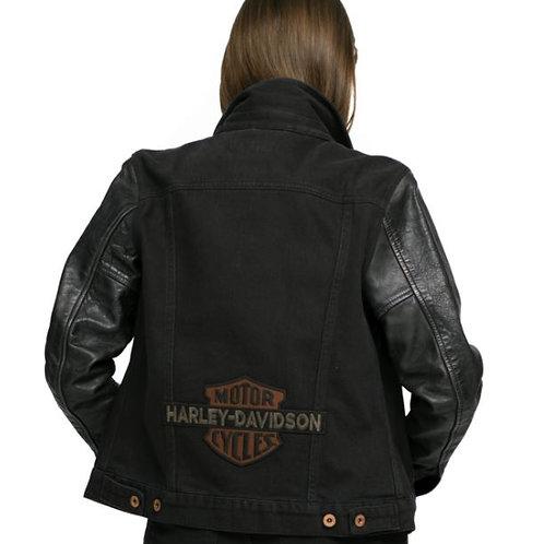 Veste Logo Leather Sleeve (98411-20VW)