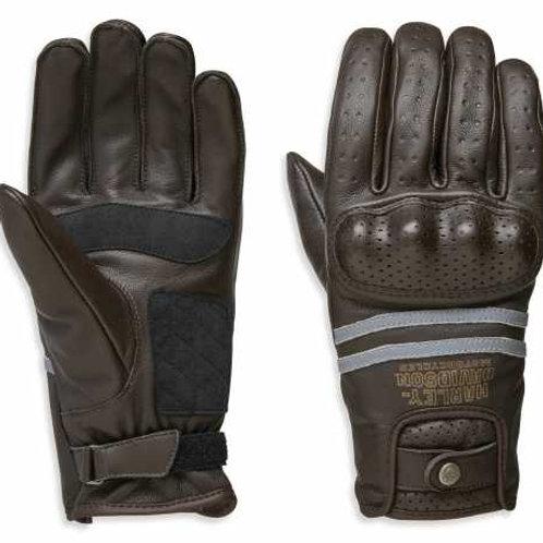 "Gants en cuir marron, homologués CE, ""Freemont Full Finger Gloves"""