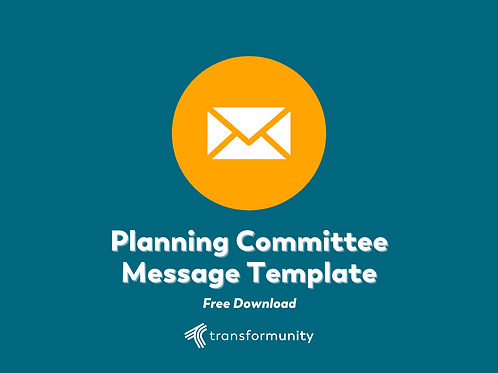 Strategic Planning Committee Message Template