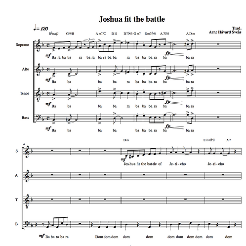 Joshua fit the battle (SATB)