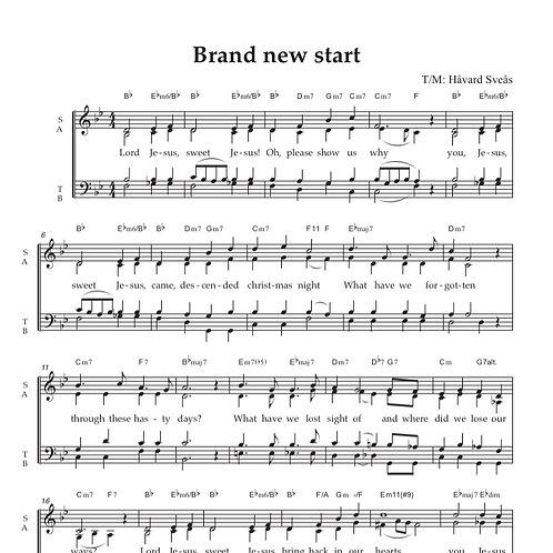 Brand new start SATB