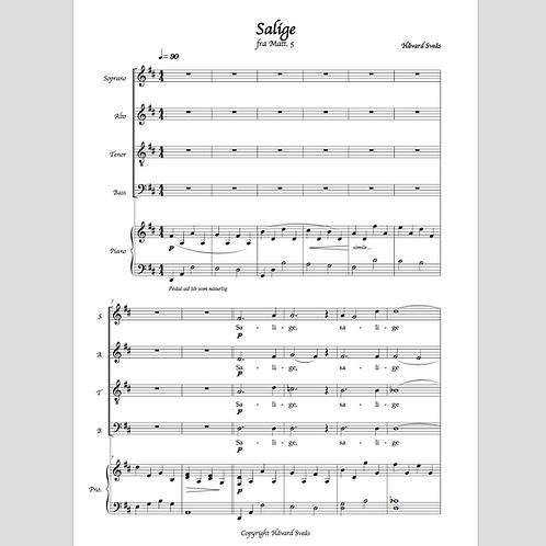 Salige (for SATB og piano)