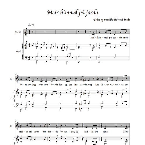 3 salmer for unisont kor med diskant siste vers