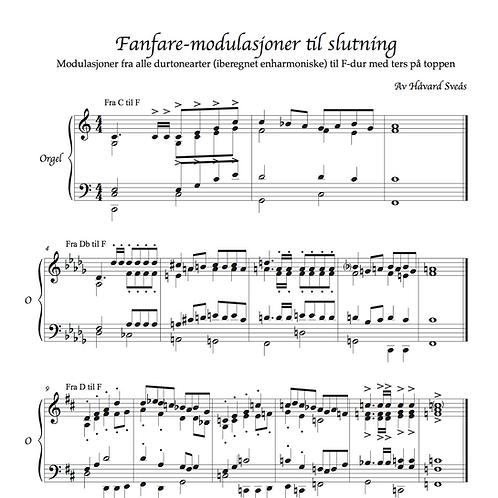 Fanfare-modulasjoner til slutning