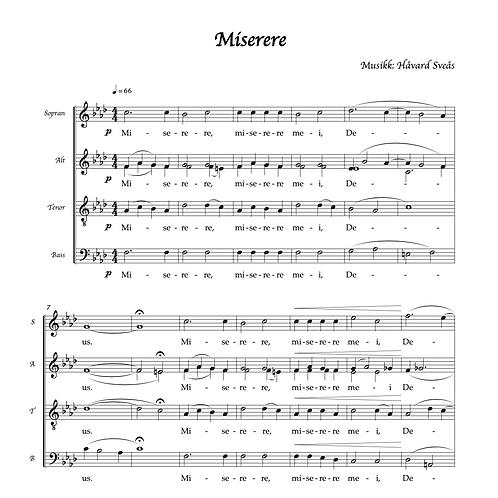 Miserere (SATB a cappella)