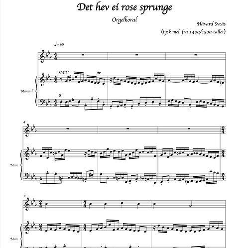 To julekoraler for orgel og melodiinstrument