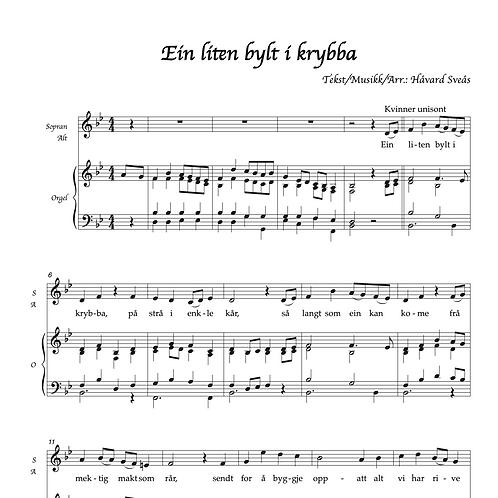 Ein liten bylt i krybba SATB/orgel
