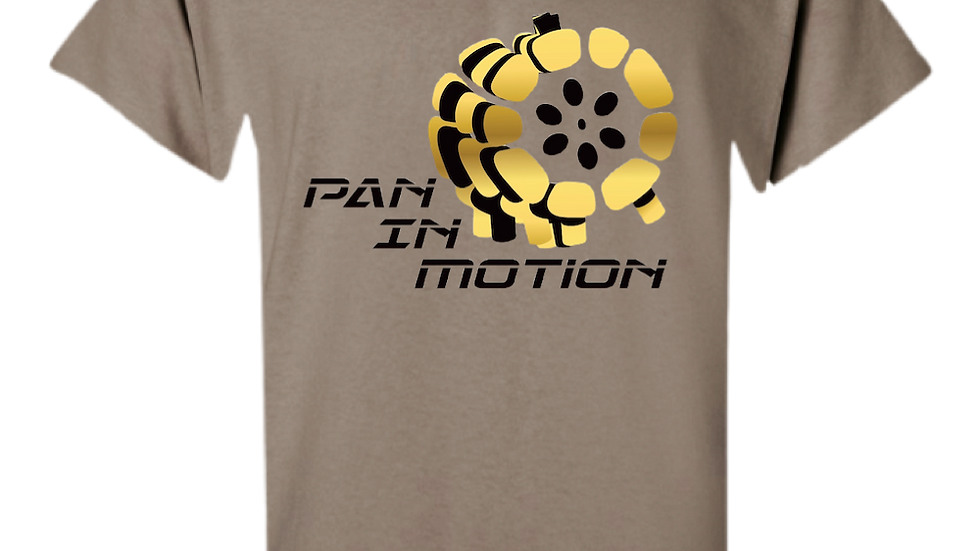 """Warm Sienna"" Pan in Motion Logo T-shirt (Unisex)"