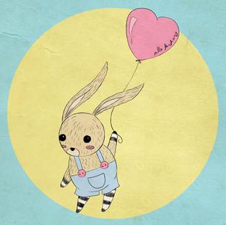 A balloon & a bunny