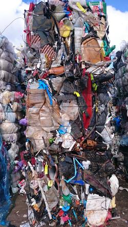 Mixed plastic from municipality