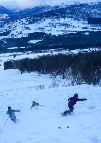 Party shredd i Oppdal skisenter