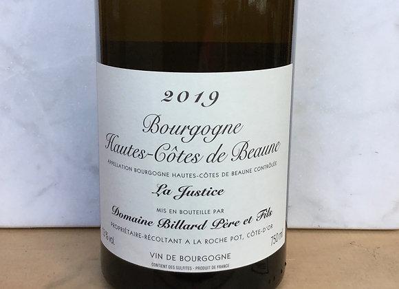 """Domaine Billard Pere et Fils """"La Justice"""" Hautes- Côtes de Beaune"""