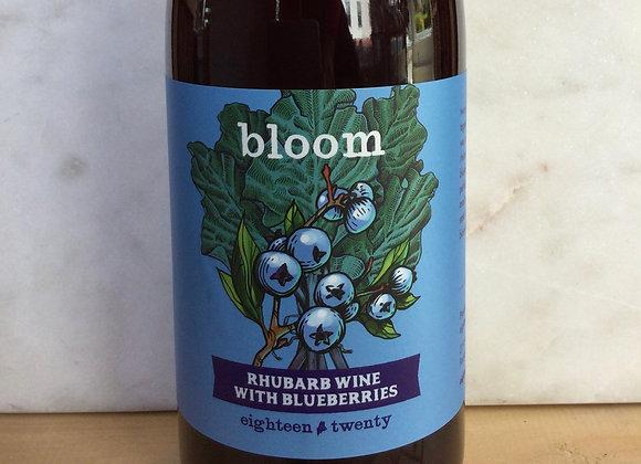 eighteen twenty Rhubarb Wine with Blueberries bloom