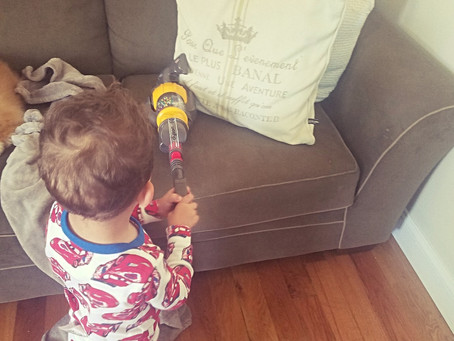 Toy Dyson Ball Vacuum With Real Suction and Sounds