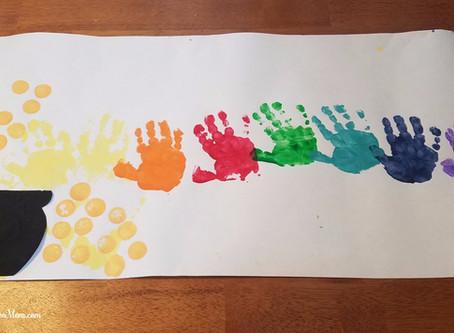 St. Patrick's Day Craft - Hand print Rainbow/Pot of Gold