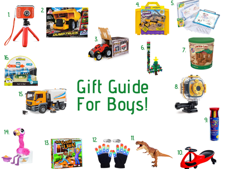 Holiday Gift Guide for Boys!