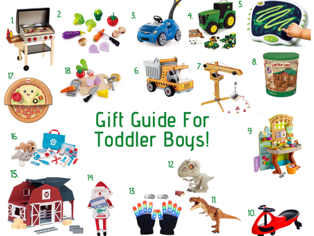Holiday Gift Guide for Toddler Boys!
