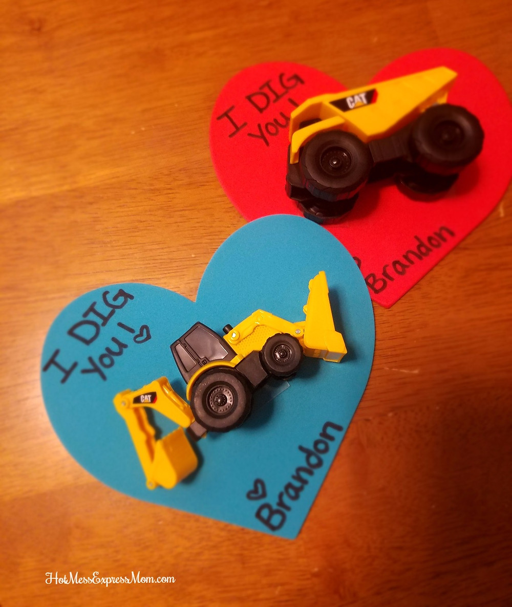 Construction Truck Valentines