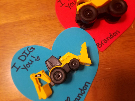 "DIY ""I Dig You"" Construction Truck Valentines"