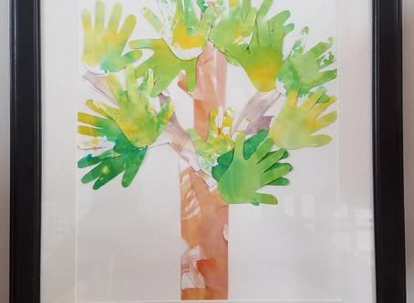 Hand Print Tree Craft