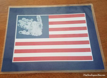 Craft Time - American Flag Hand print