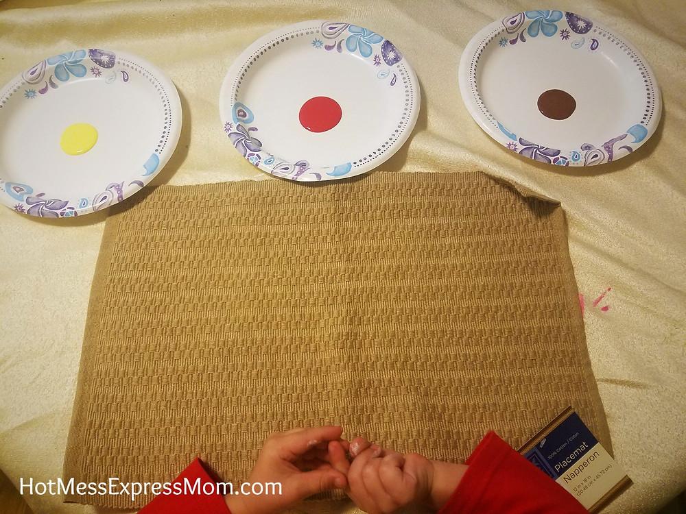 Thanksgiving Hand Print Turkey Placemats