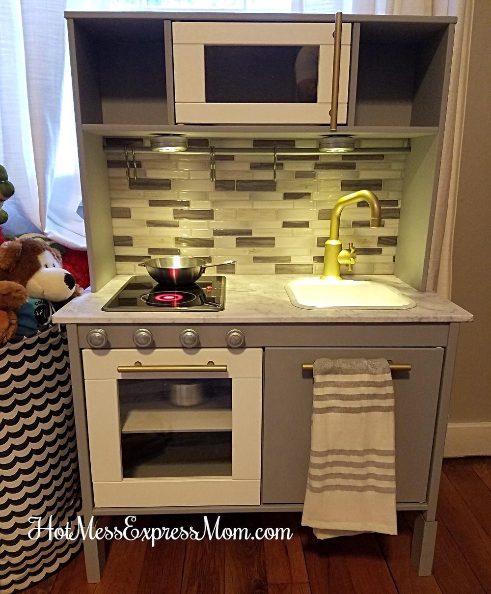 Ikea Dutkig play kitchen hack