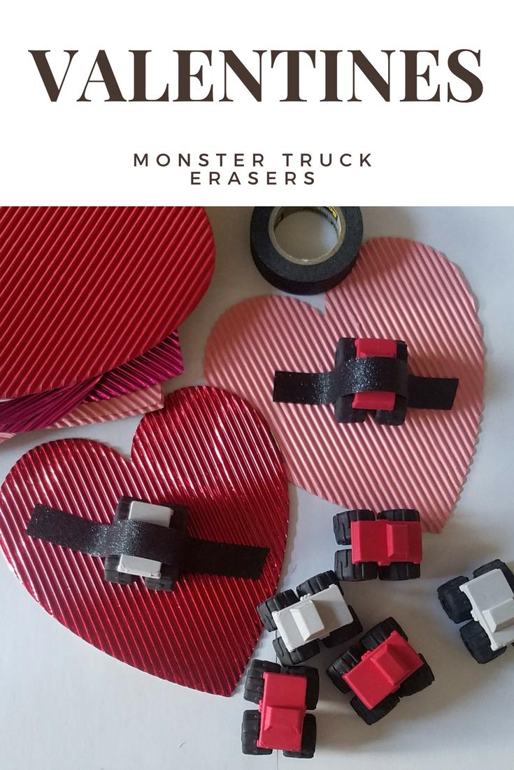 DIY Monster Truck Valentines
