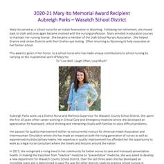 2020-21 Mary Ito Award