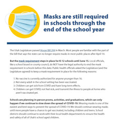 Masks are still required in school
