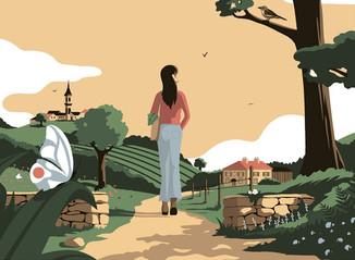 Le confinement illustré par l'agence Marie Bastille.