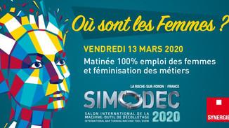 Synergie au salon dédié à l'emploi des femmes dans le secteur de l'industrie et du décolletage.