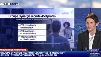 BFM Business TV « 60 minutes business »: Itw de Sophie Sanchez, Directrice générale du groupe Synerg