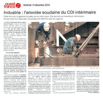 Envolée du CDI Intérimaire