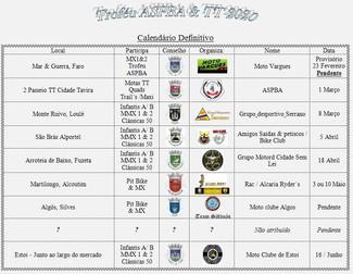 Calendário ASPBA 2020