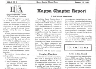 Alumni Newsletter Vol. 1, No. 1
