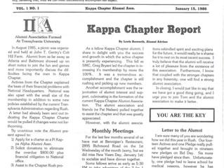 Alumni Newsletter Vol. 1, No. 1
