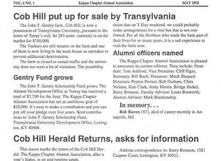 Cob Hill Herald Vol. 6, No. 1