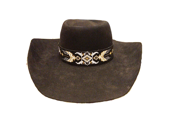 Black N Gold Hatband