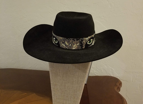 """On the prowl"" hat band"