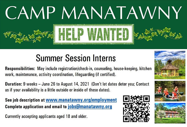 Help Wanted - Summer Session Interns (Sl