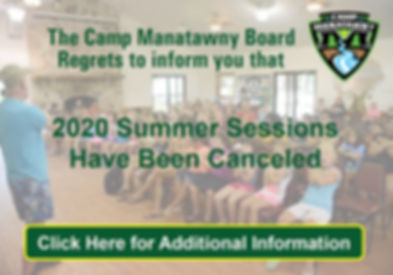 Announcement - Summer Sessions Canceled