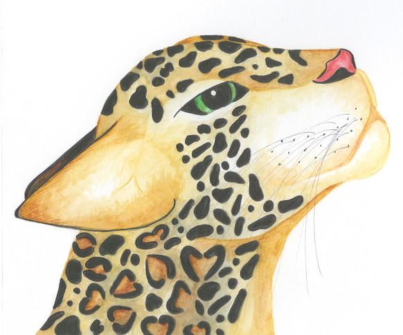 Painted Jaguar character study.